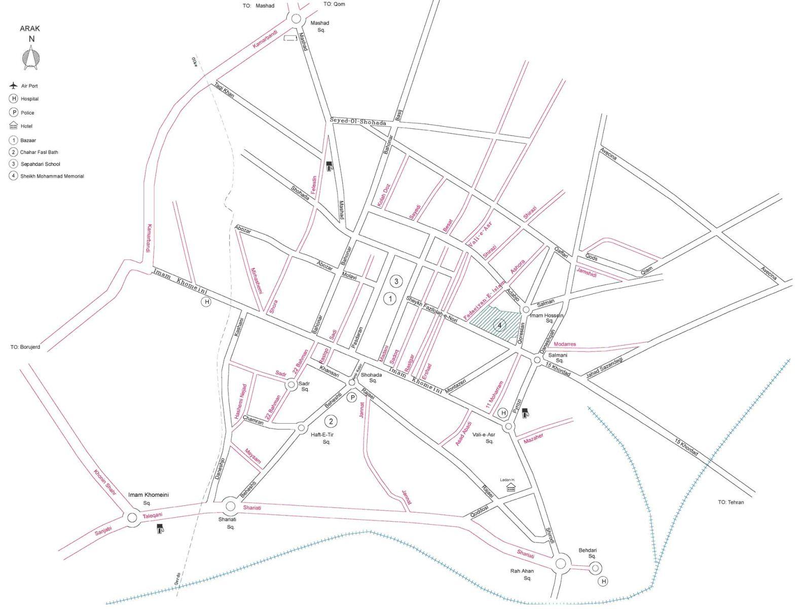 Iran Map Rasht